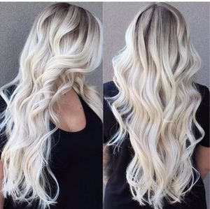 Pale Blonde Full Head clip in Extension #60
